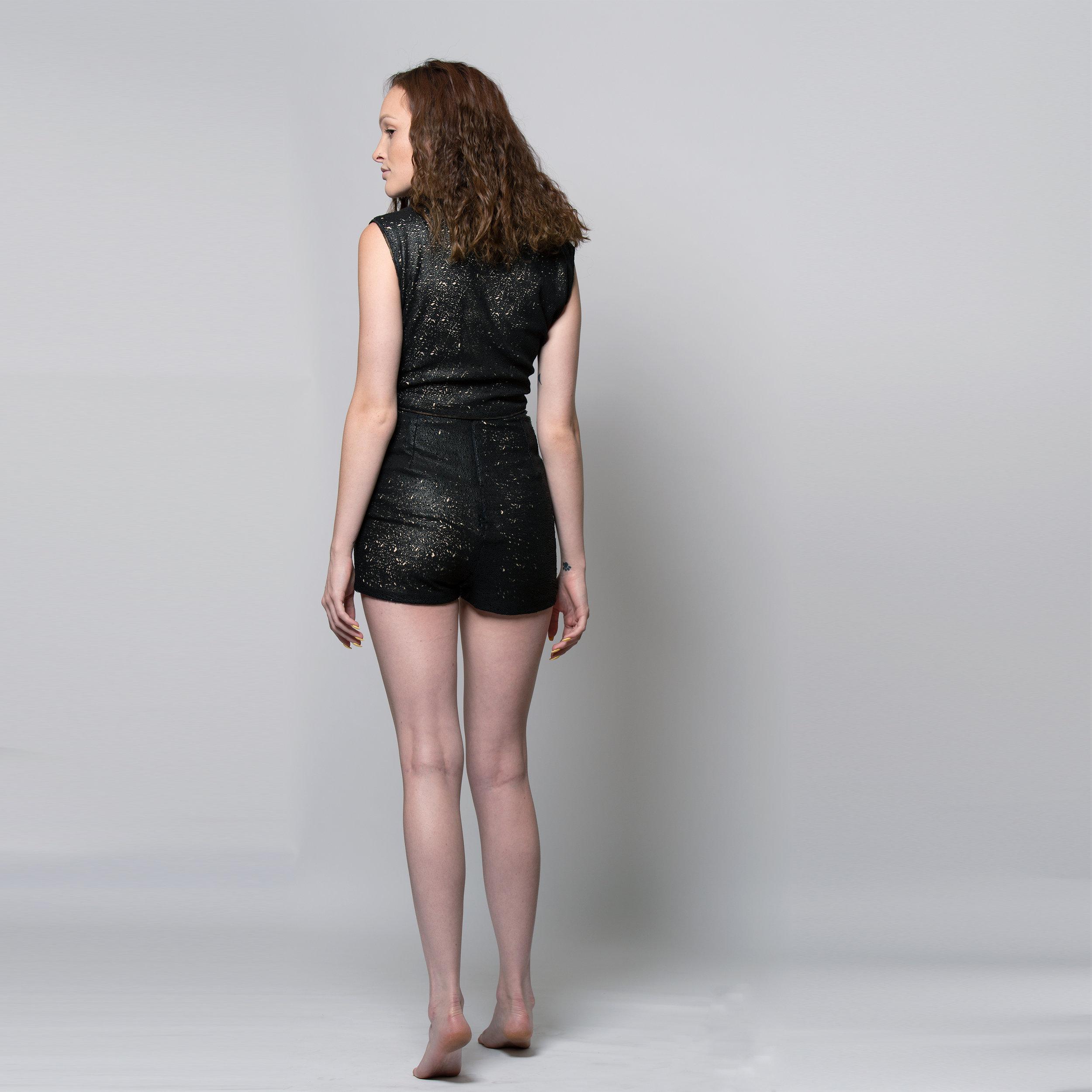 Nadjarina - Laser Cut Leather High Waist Short