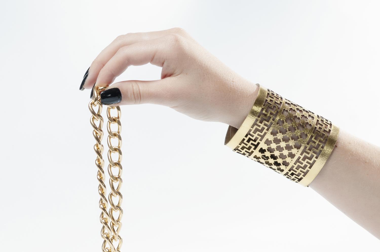 Genoveva Christoff - Leather Laser Cut Maya Bracelet
