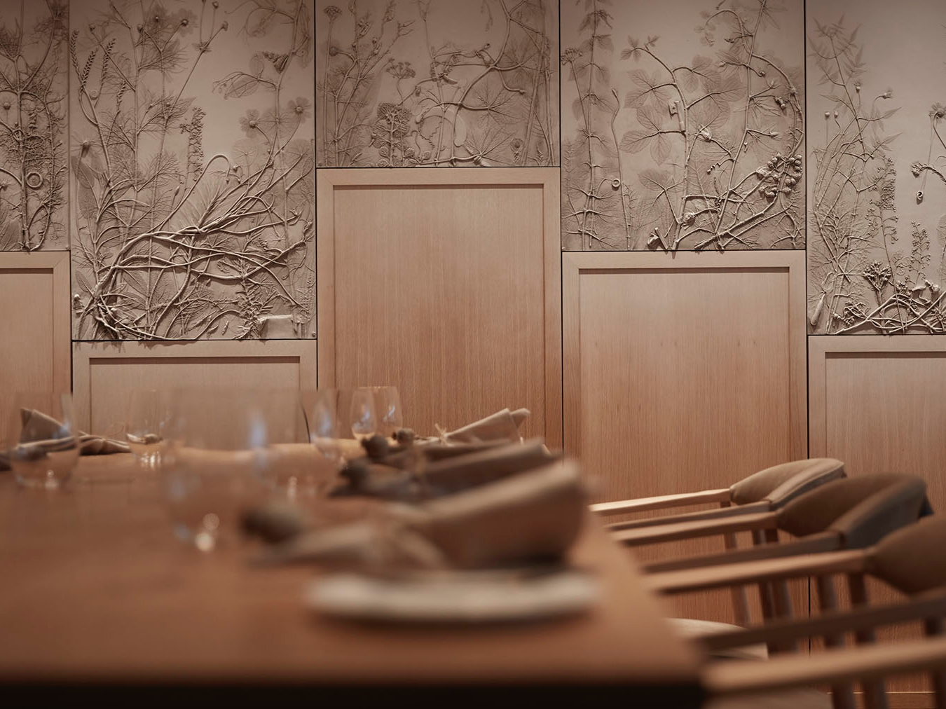 The botanical mural in line with Hide's earthy feel.  (photo supplied)