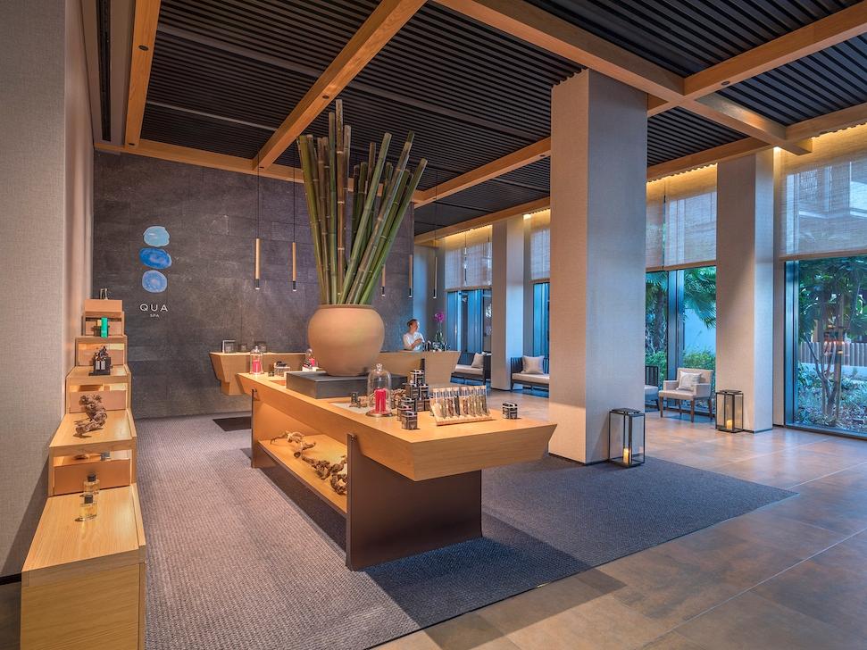 Qua's airy boutique-like reception area.  (photo supplied)