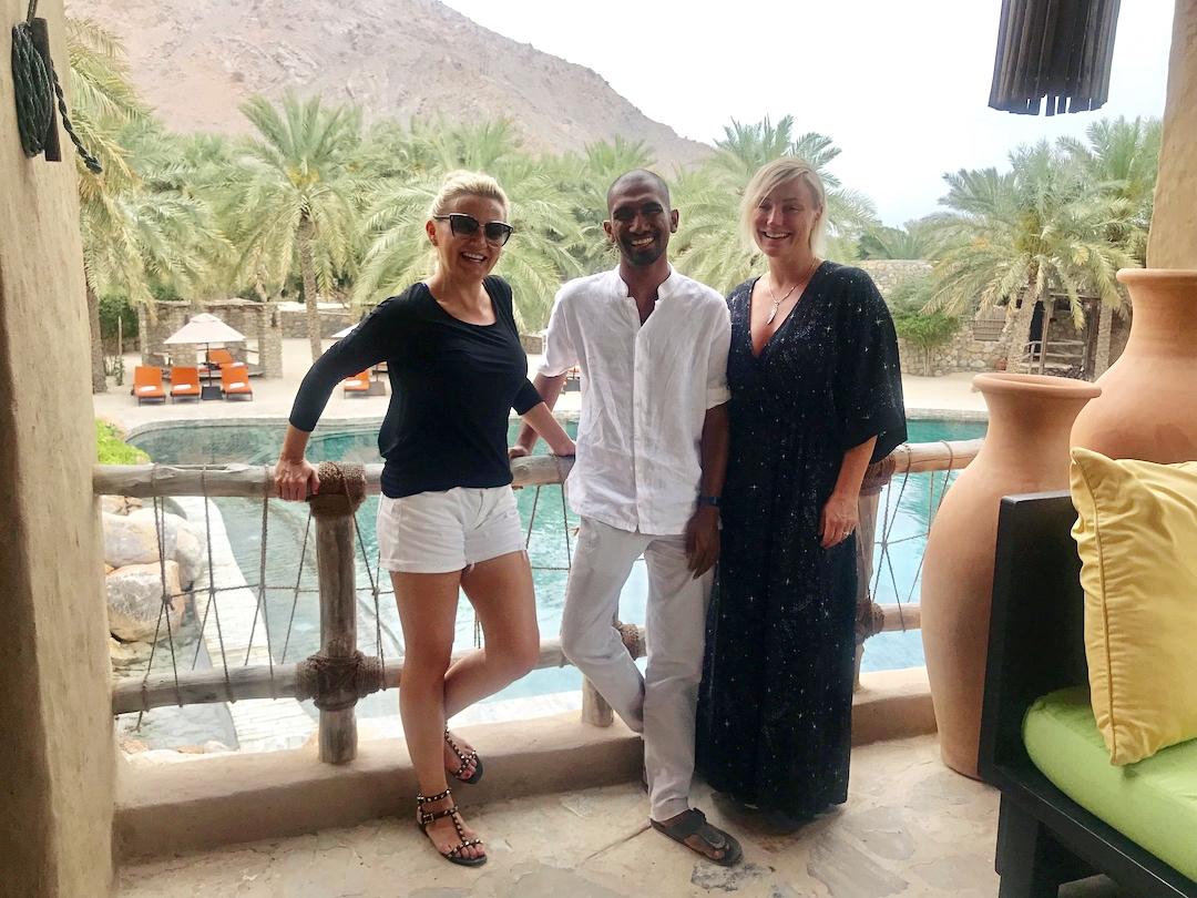 Pra and Anna Royall-Smith with Marketing Head Nikhil Mohan