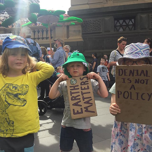 """Marching to save """"lions and tigers"""". So proud to be a very small part of the enormous turn out today for climate action. #climatestrike"""