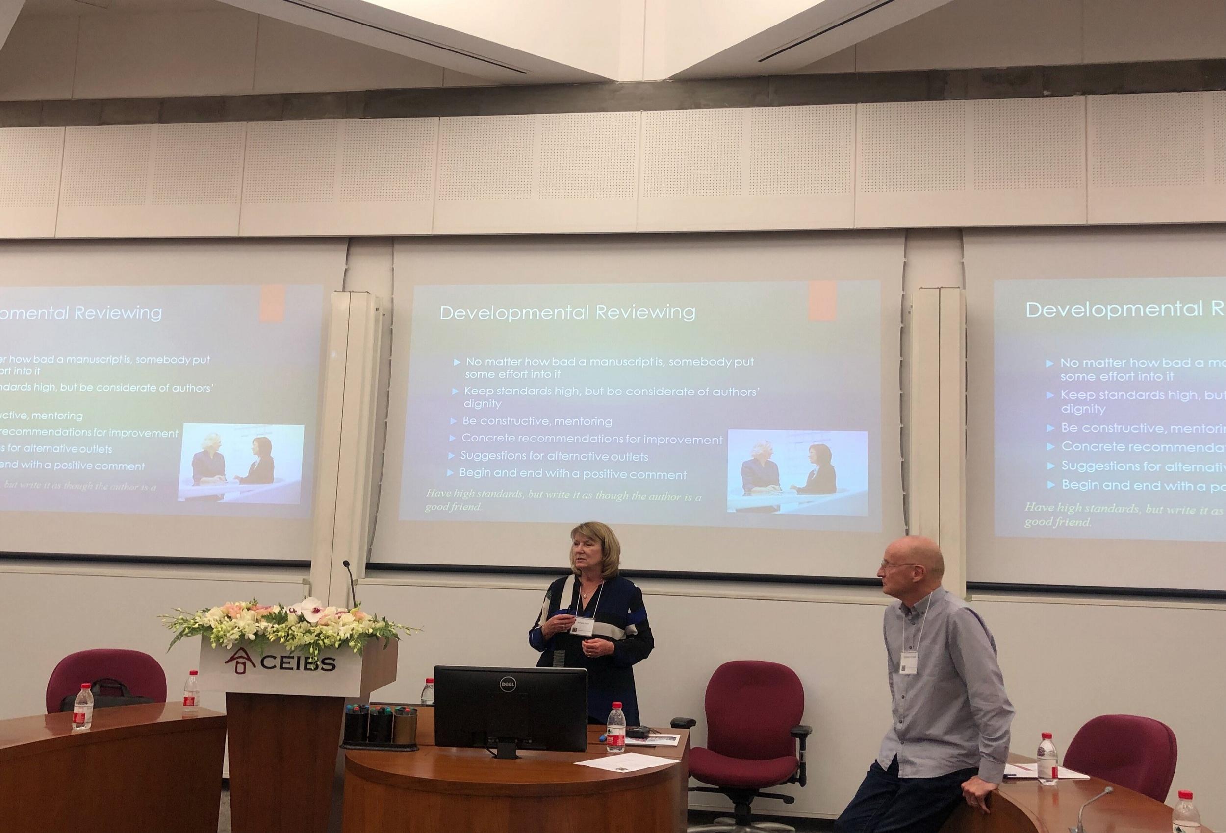 Professor Barbara B Flynn and Asia Pacific Editor of JSCM Professor Damien Power