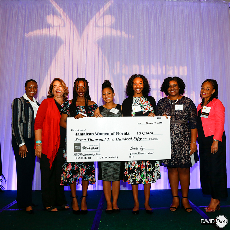 2018 Scholarship recipients, JWOF board members and donors at the 2018 Women's Empowerment Conference and Scholarship Luncheon