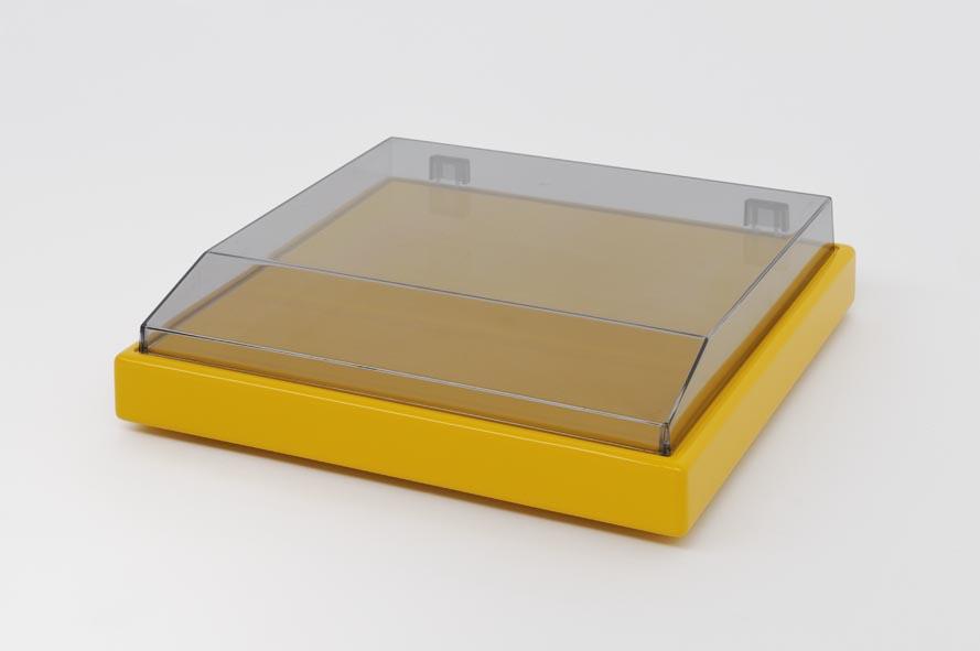 JVC-1, 2009, MDF highglosslacquered, acrylic hood, 36 x 35 x 9 cm
