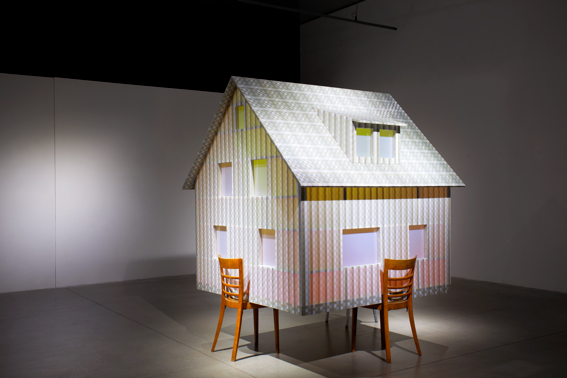 mau mau, 2015, wood, PVC, acrylic glass, 235 x 160 x 190 cm, Museum for Contemporary Art, Zagreb