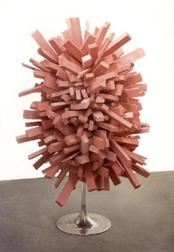 The Big Pink, 2007, wood, aluminium, loudspeaker, CD-player, 190 x 190 x 133 cm