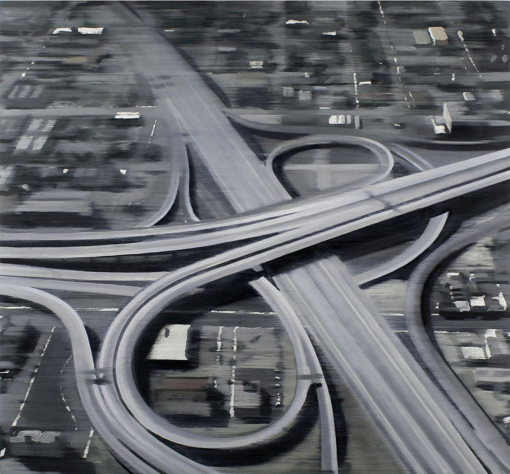 Intersection II, 2012, oil on wood, 114 x 122 cm