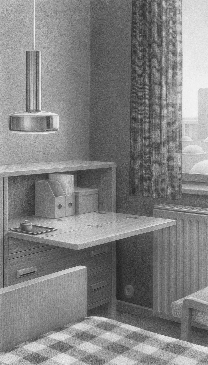 Foreign Affairs, 2018, pencil on paper,  27 x 15,5 cm