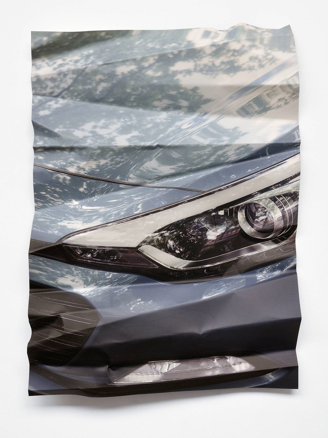 Silver Crash, 2018, UV-Print on aluminium, 134 x 101 cm