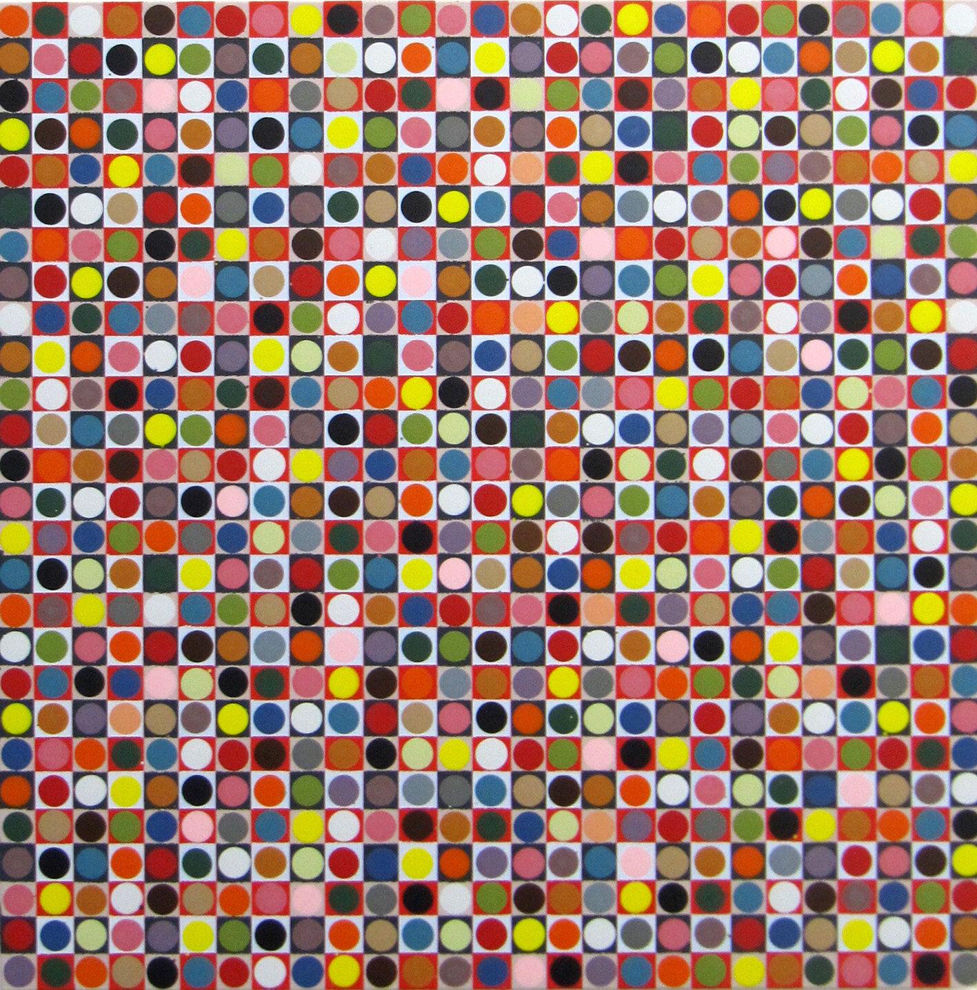 o.T., 2018, Acryl auf Holz, 50 x 50 cm