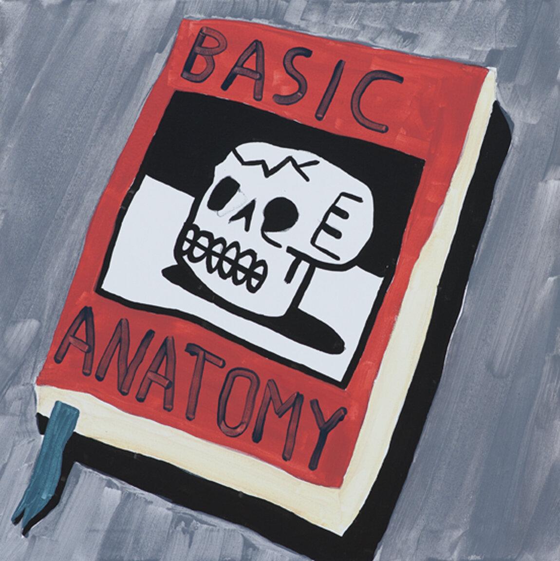 basic anatomy, 2017, acrylic on canvas, 70 x 70 cm
