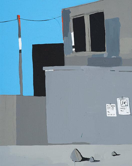 search, 2017, acrylic on canvas, 150 x 120 cm