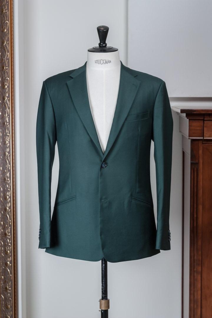 - Groen maatpak super 100's Gabardine wol heren