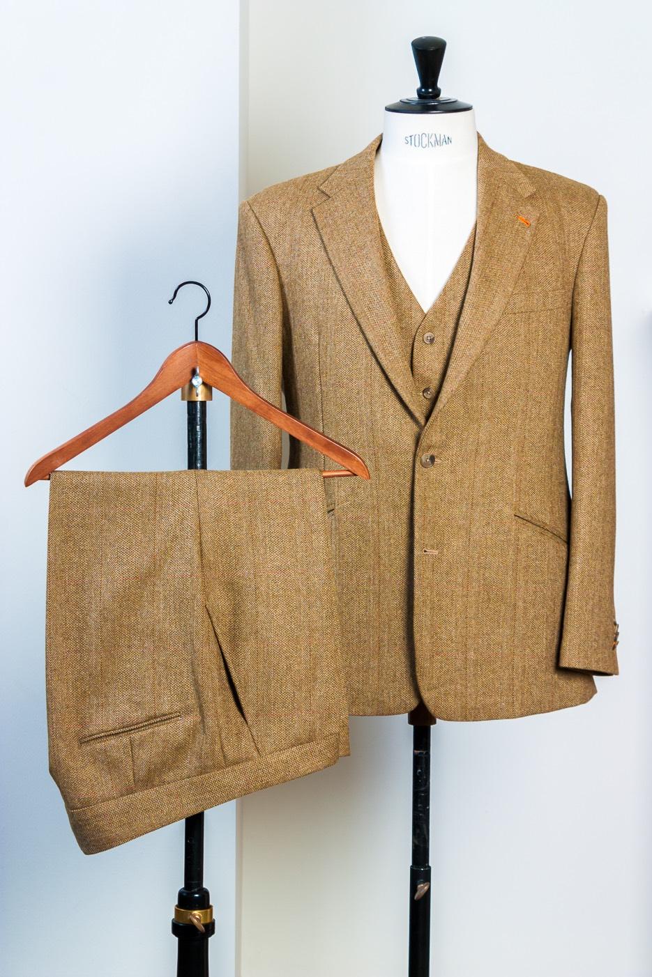 - Tweed pak 3-delig Colbert Vest Broek Four Plus Highland Equastrian