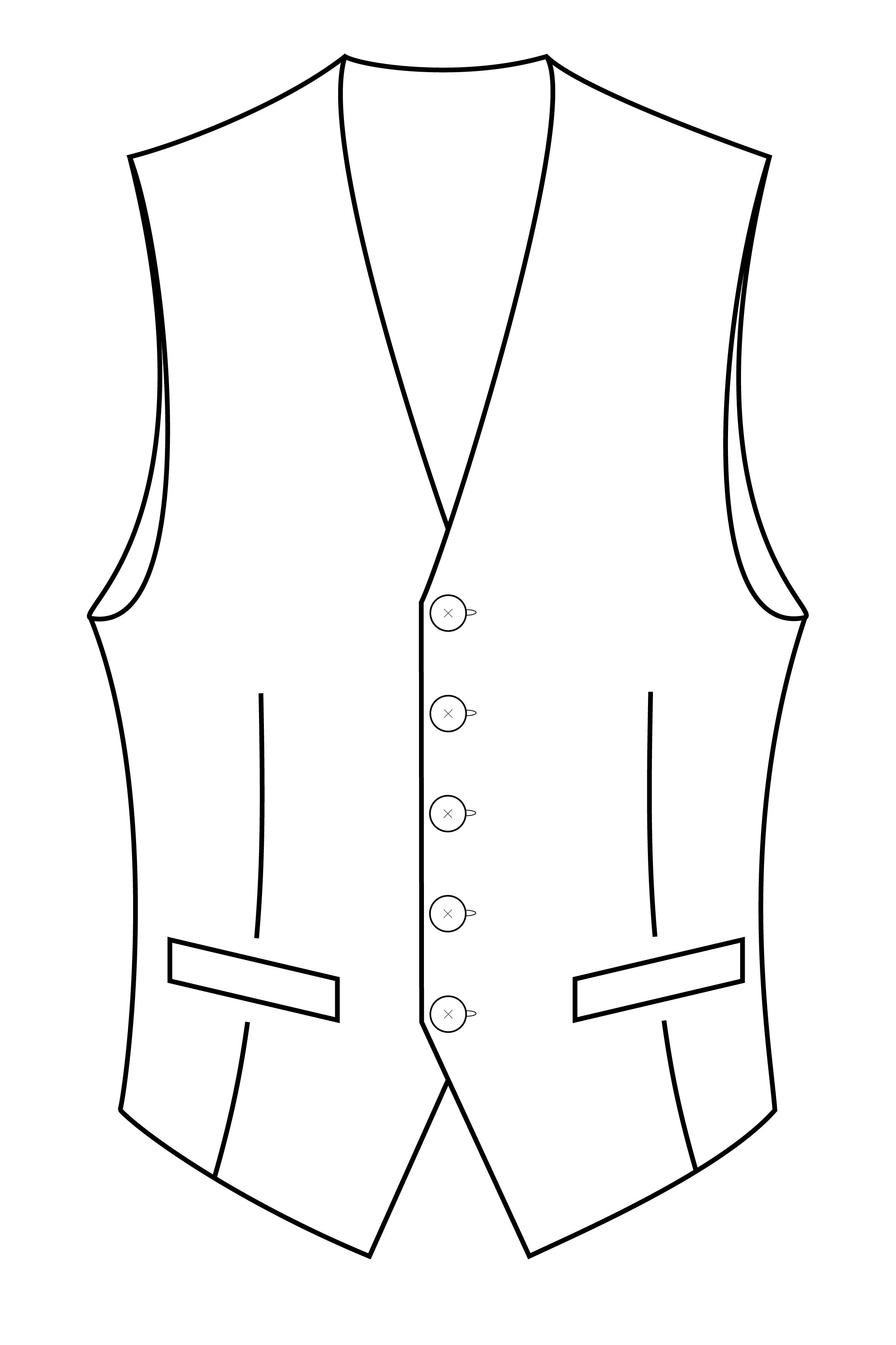 5 knoops vest gilet.png
