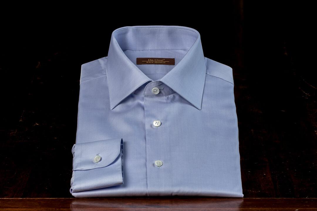 Handgemaakt Shirt Heren Bespoke Blauw Klassiek Monti Twill Kantoor Werk Egyptisch Katoen