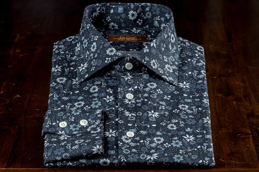 Op Maat Handgemaakt Zomer Overhemd Zephir Print Bloem Motief Liberty London Thomas Mason