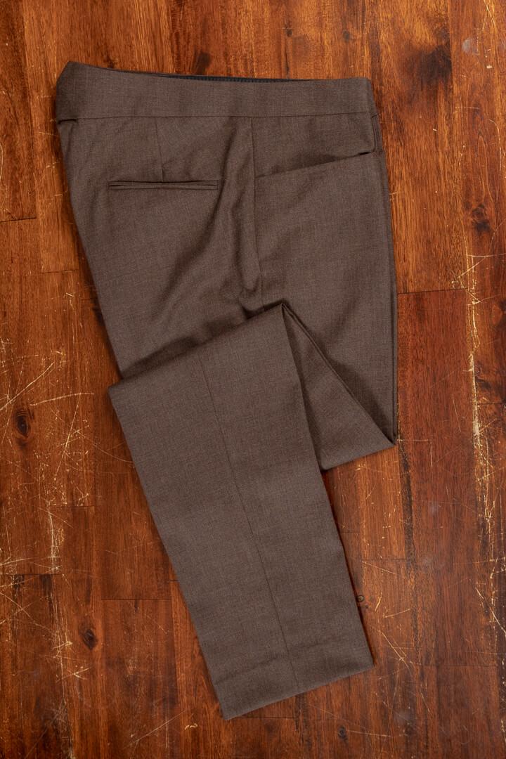- Broek voor de reizende man met jeans pocket kreuk vrij wol hazel solid