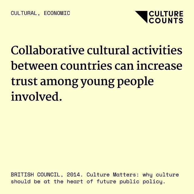 Trust 👫 ⠀ ⠀ #culturecounts #usefulfacts #cultural #social #economic #environmental #health #education #research #academic #policy #arts #screen #heritage #creativeindustries