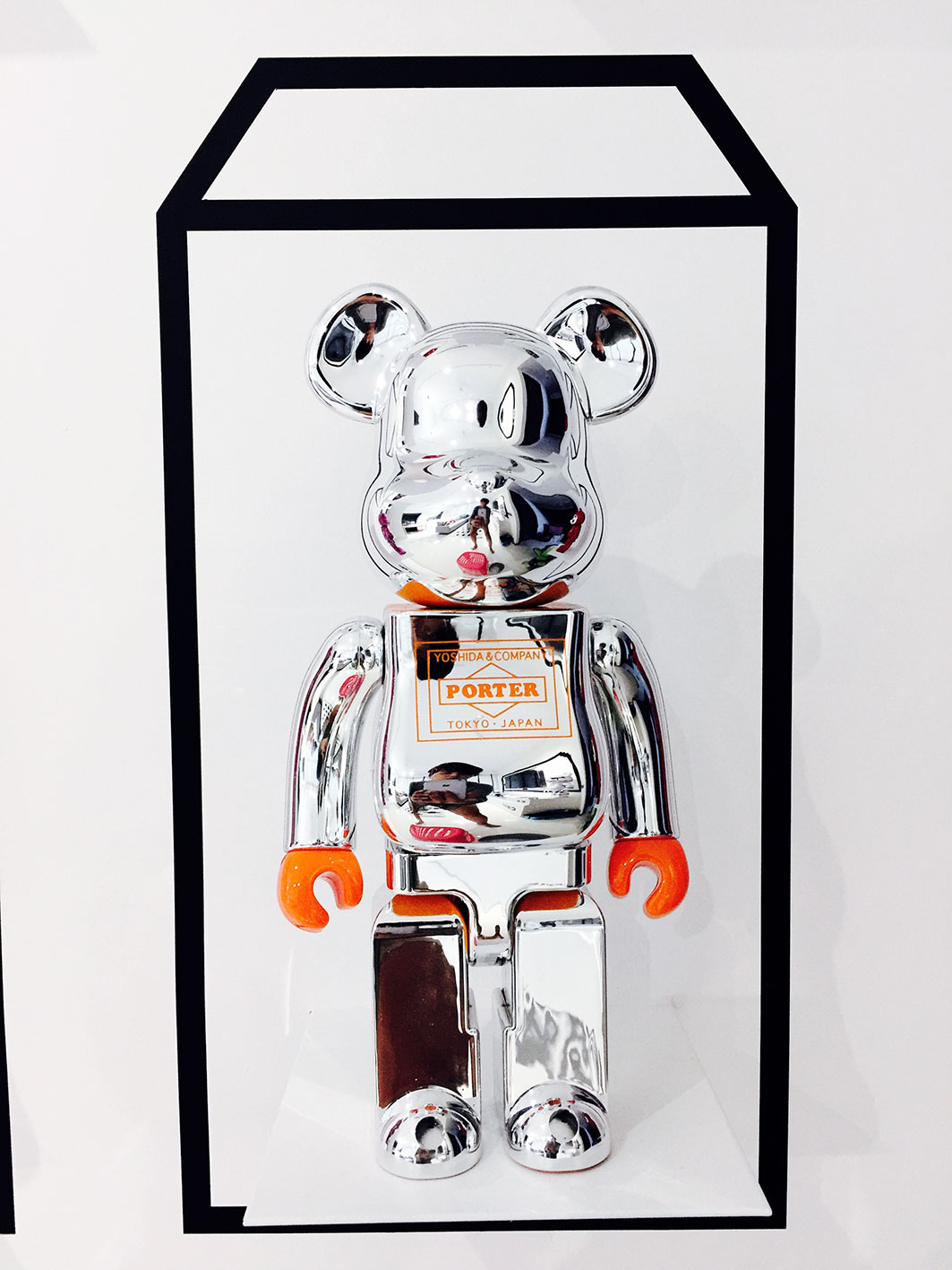 Up close look of the Bearbrick display.