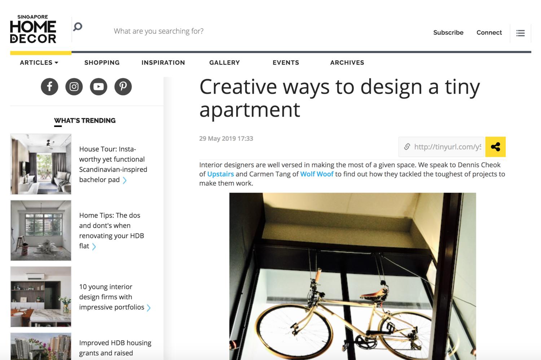 Creative ways to design a tiny apartment - https://www.homeanddecor.com.sg/articles/115919-creative-ways-design-tiny-apartment
