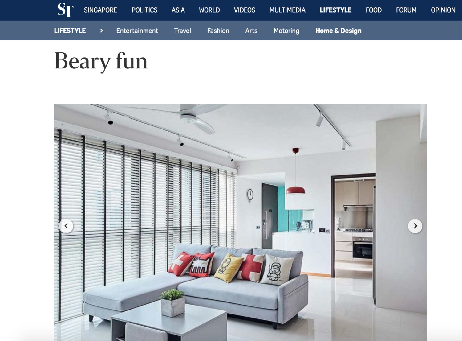 Straits Times Online - https://www.straitstimes.com/lifestyle/home-design/beary-fun
