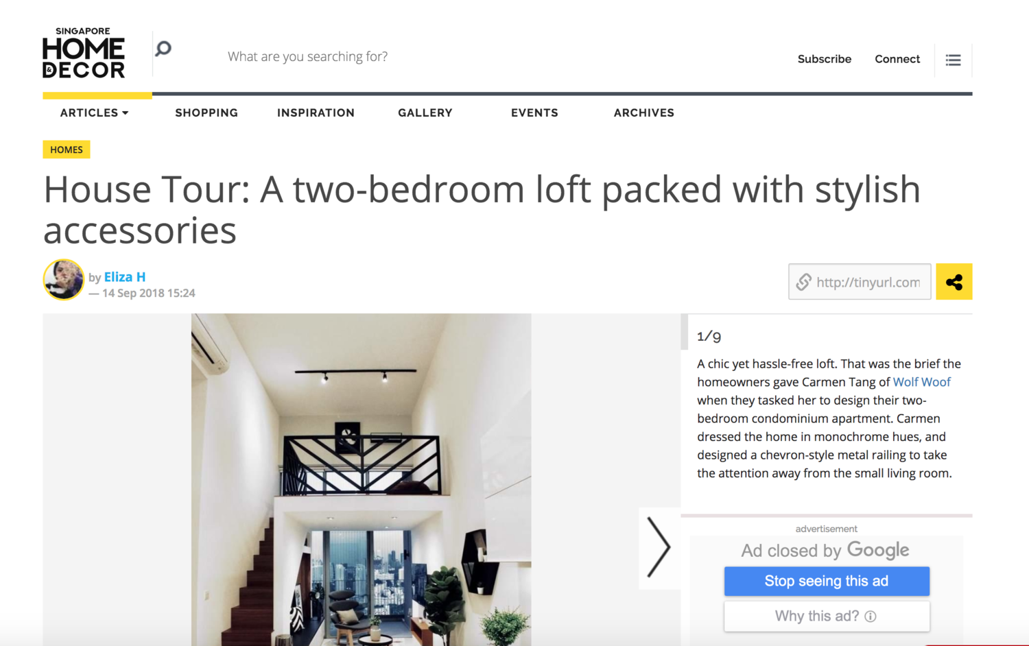 Home & Decor Online - https://www.homeanddecor.com.sg/articles/111292-house-tour-two-bedroom-loft-packed-stylish-accessories