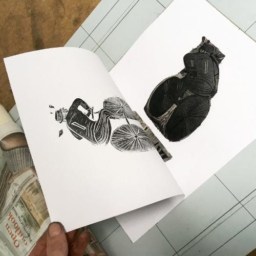 Some test printing of the Wheel Man design...