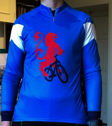 Cycling jersey with Scottish lion