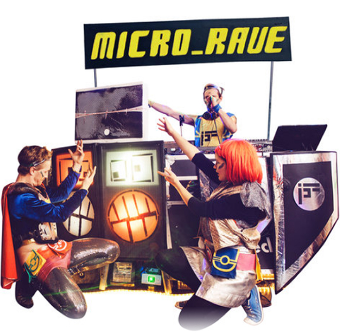 A Micro Rave task force will visit your organisation or event to host bespoke games and out of this world challenges. Whether it's an after party, an alternative stag do, or you simply want to spice up your team building activities, get ready to Power Up!