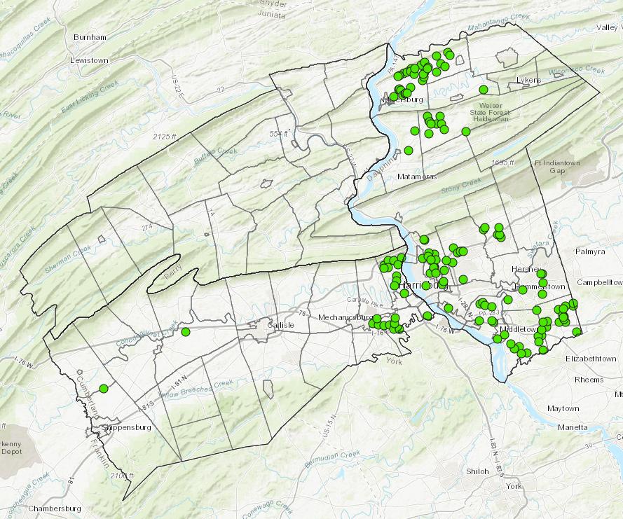 Mitigation Sites   interactive map application