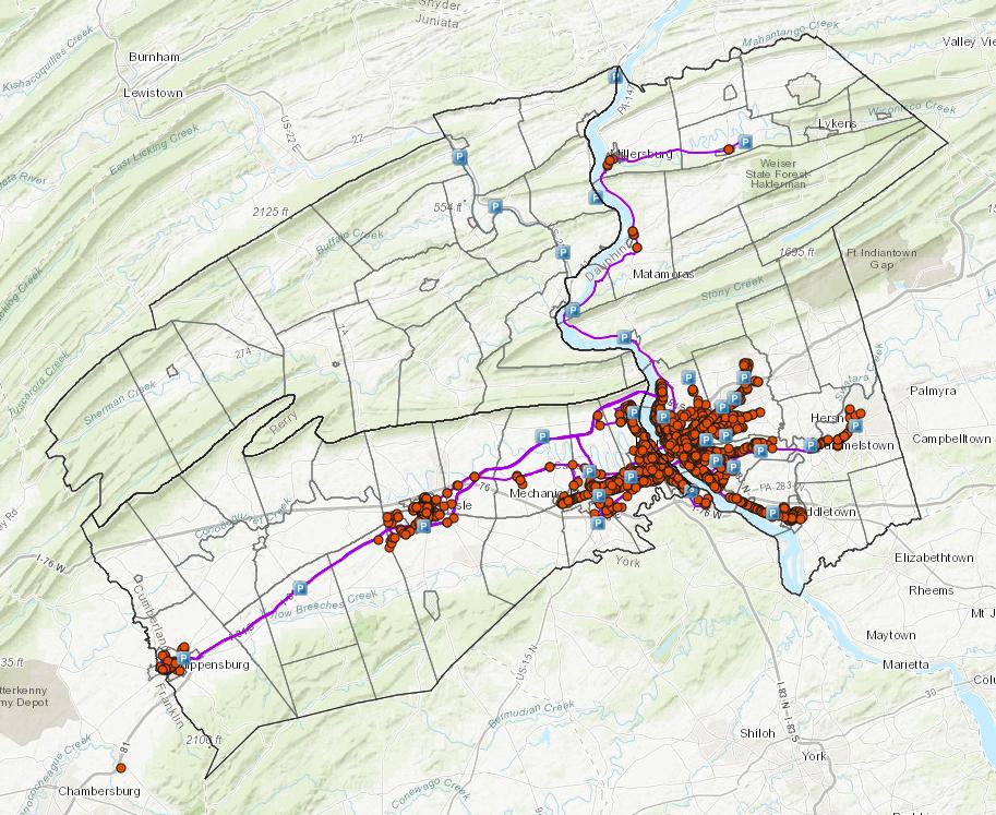 Transit interactive map application