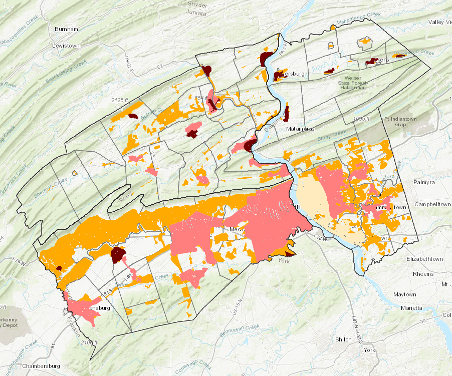 Planned Growth Areas interactive map application