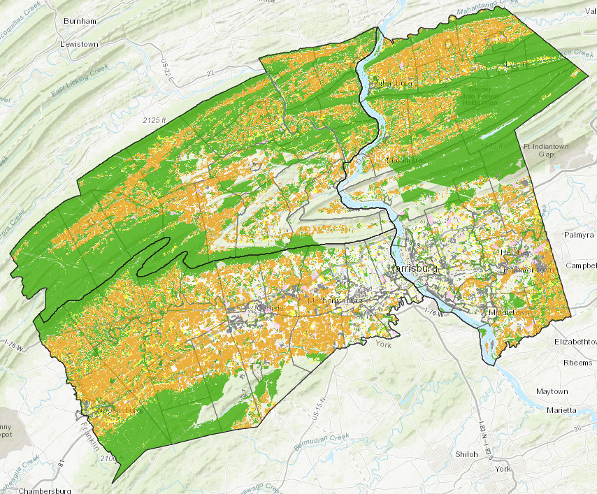 Existing Land Use & Cover interactive map application