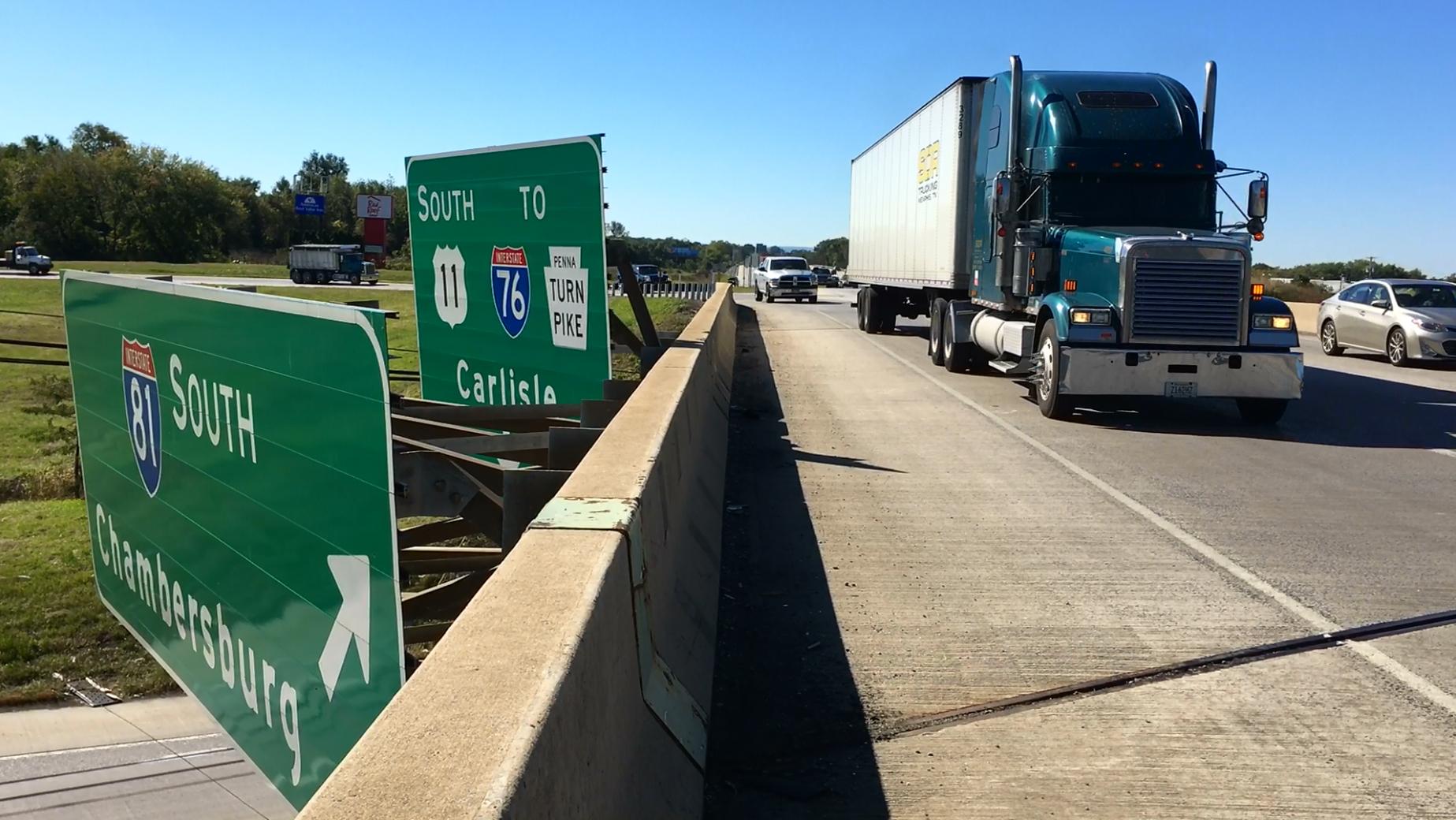 I-81 entrance ramp near Carlisle