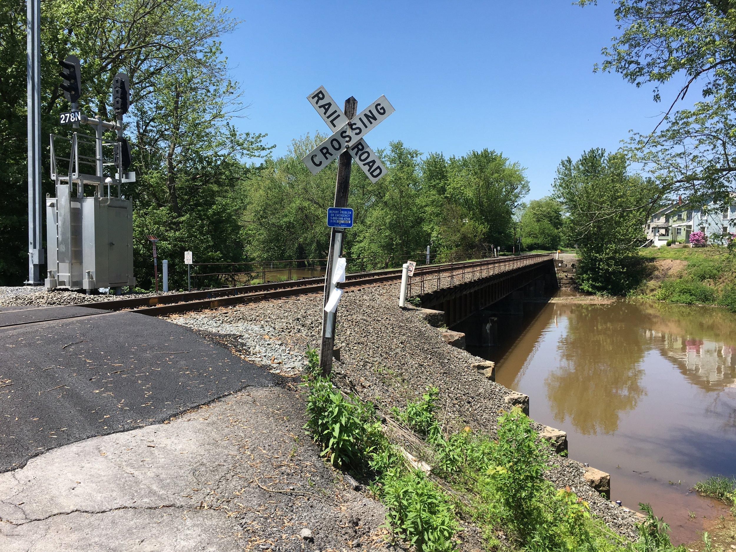 Mahantango Creek railroad bridge and crossing, northern Dauphin County