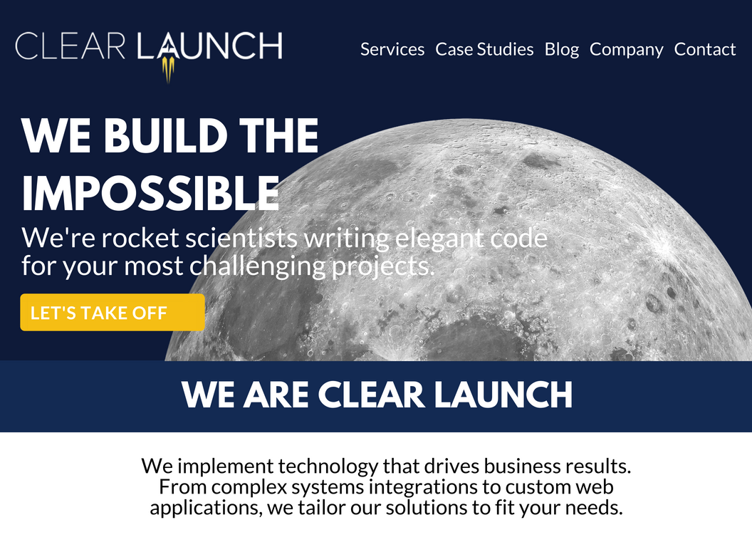 Clear Launch Website
