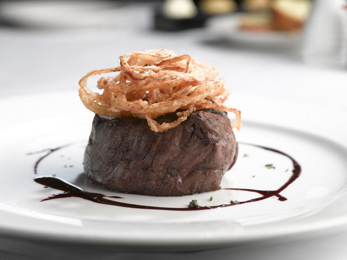 A photo of a steak.