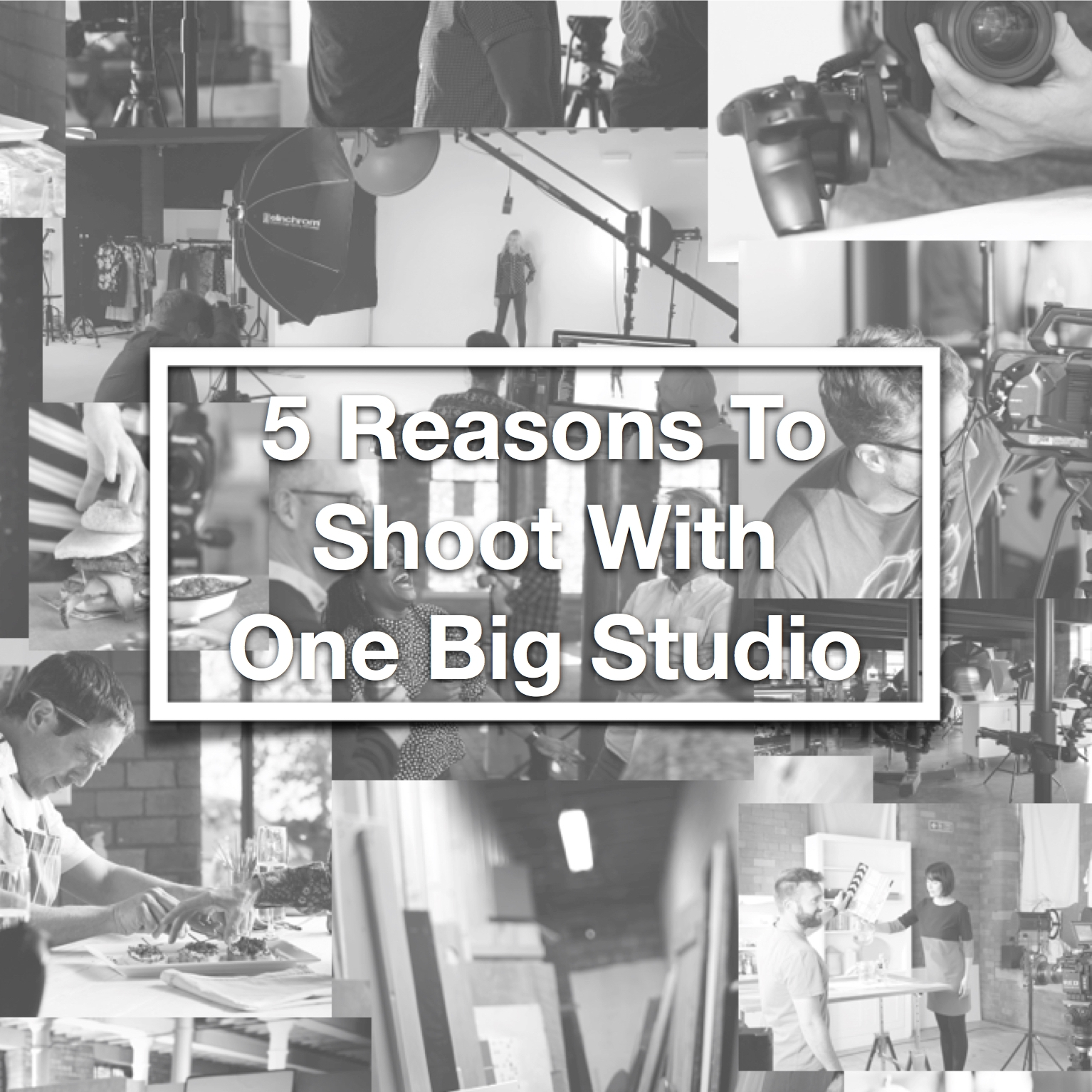 5 Reasons To Shoot With One Big Studio     August 2018   Ever wanted to know what the most cost-effective way of procuring your stills and video content is without compromising on quality or brand consistency? Let us introduce you to 'The Power of In House'...