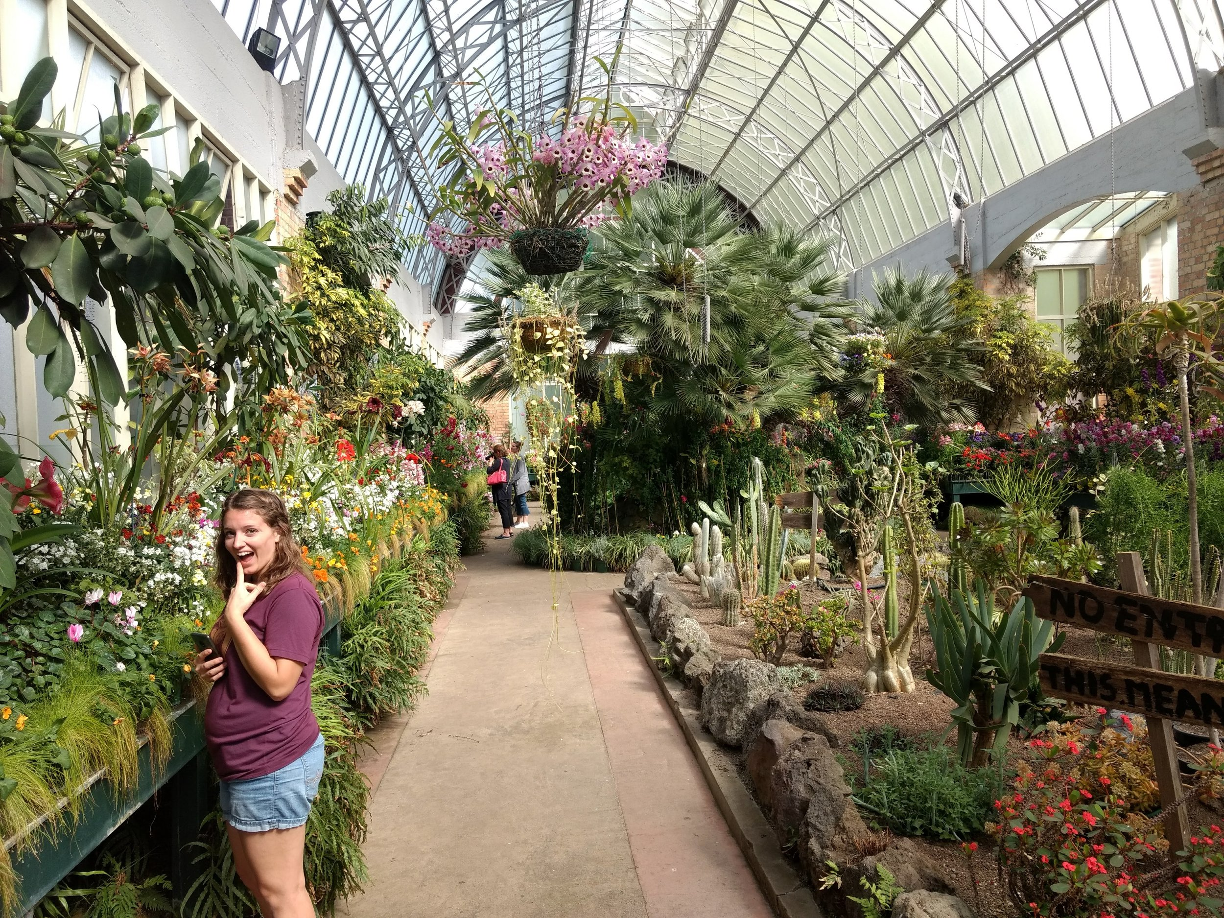 "The ""cool house"" which is the greenhouse with native flowers (I'm clearly in heaven)"