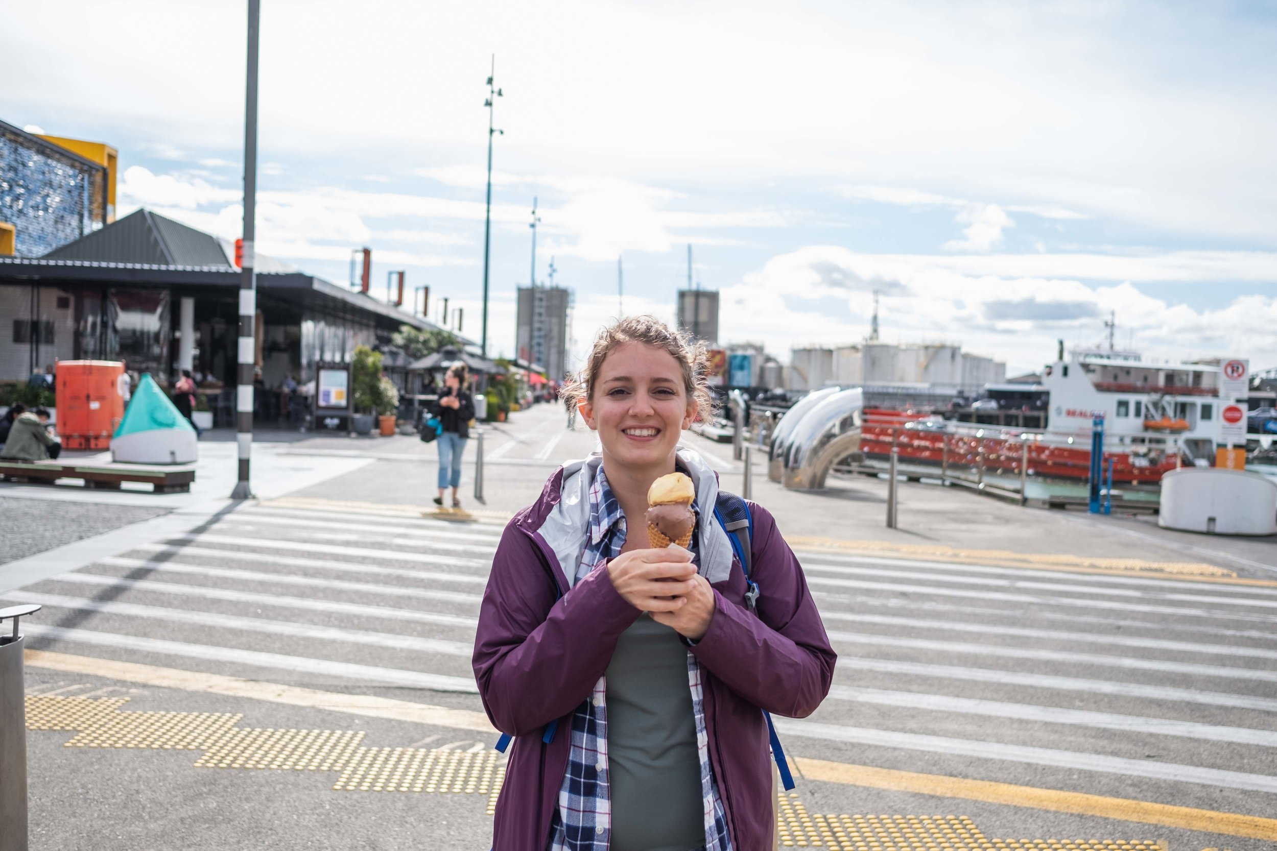 Ashley enjoying some gelato (she'd been talking about eating ice cream nonstop for like three days)