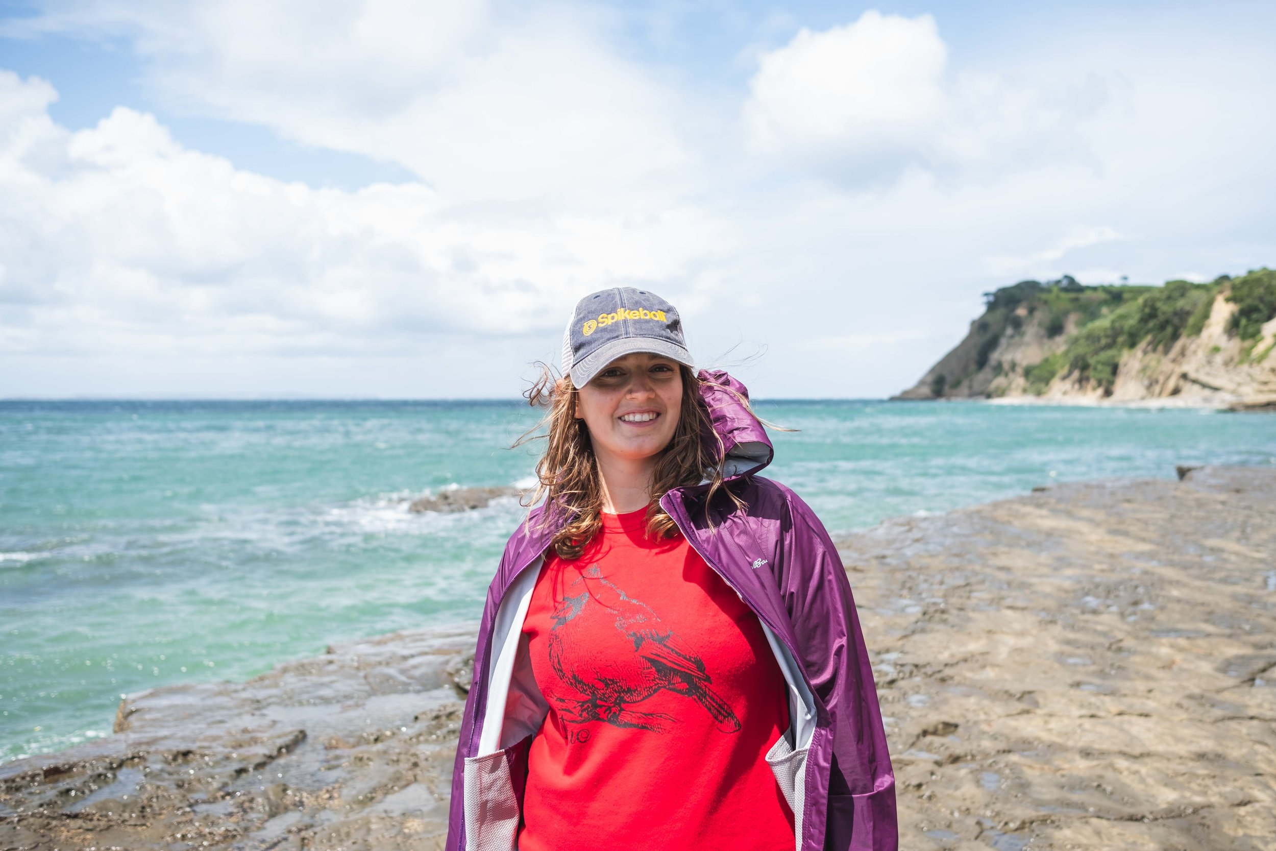 Me soon before my hat flew into the ocean. Seth so gallantly saved it for me after much effort!