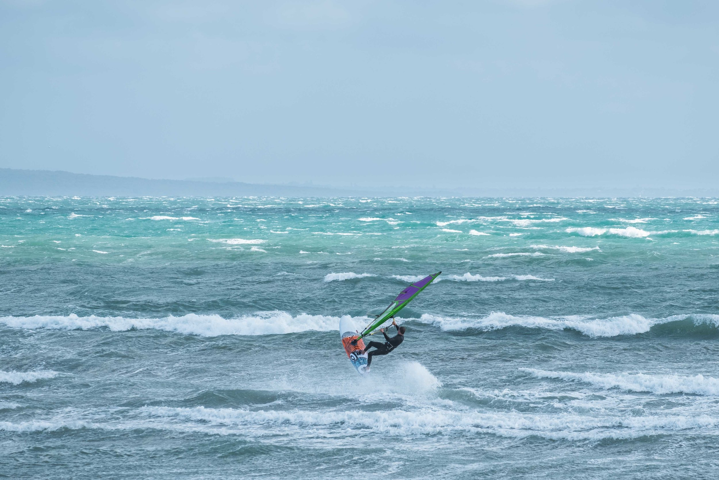 A wind surfer in action! He was pretty dope.