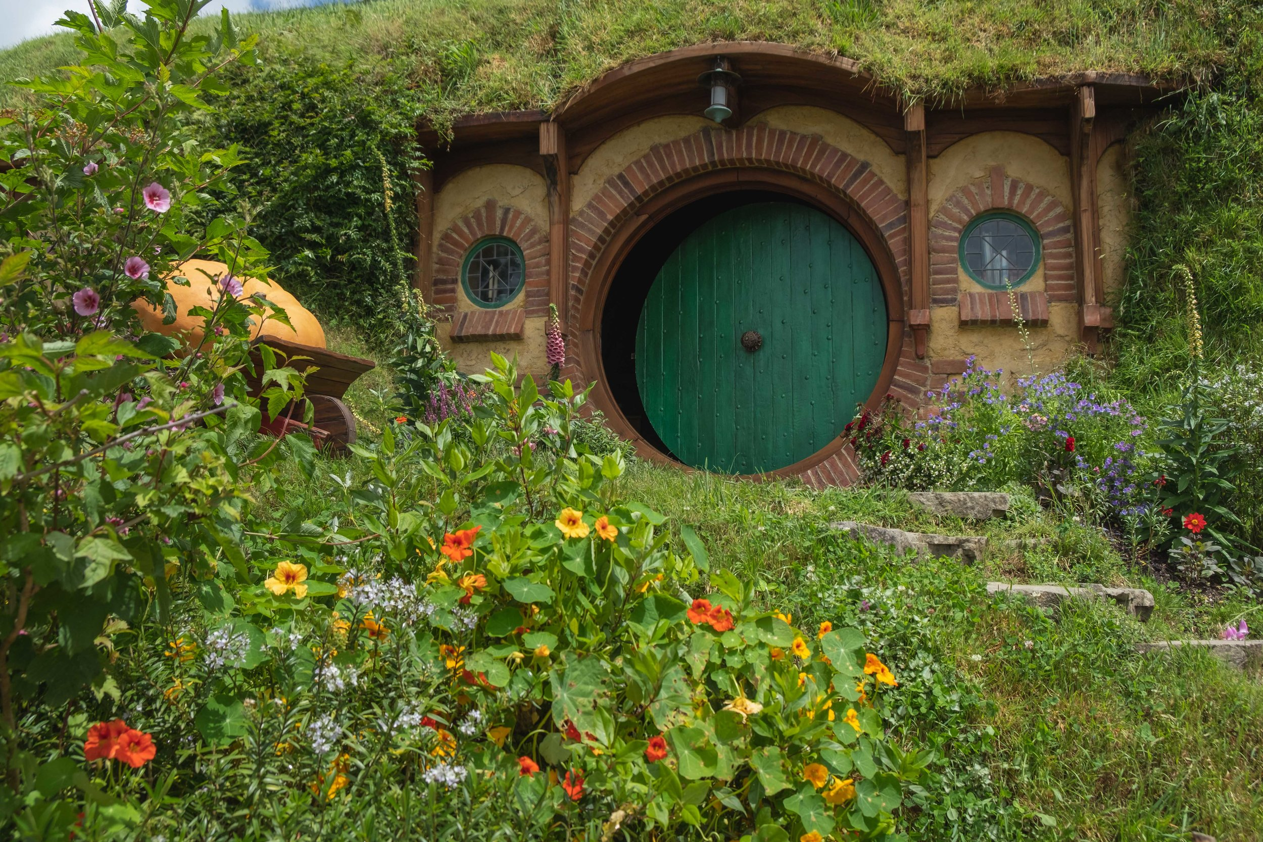 The most famous hole of them all. . .(Bag End, guys. . .Bilbo's house.)