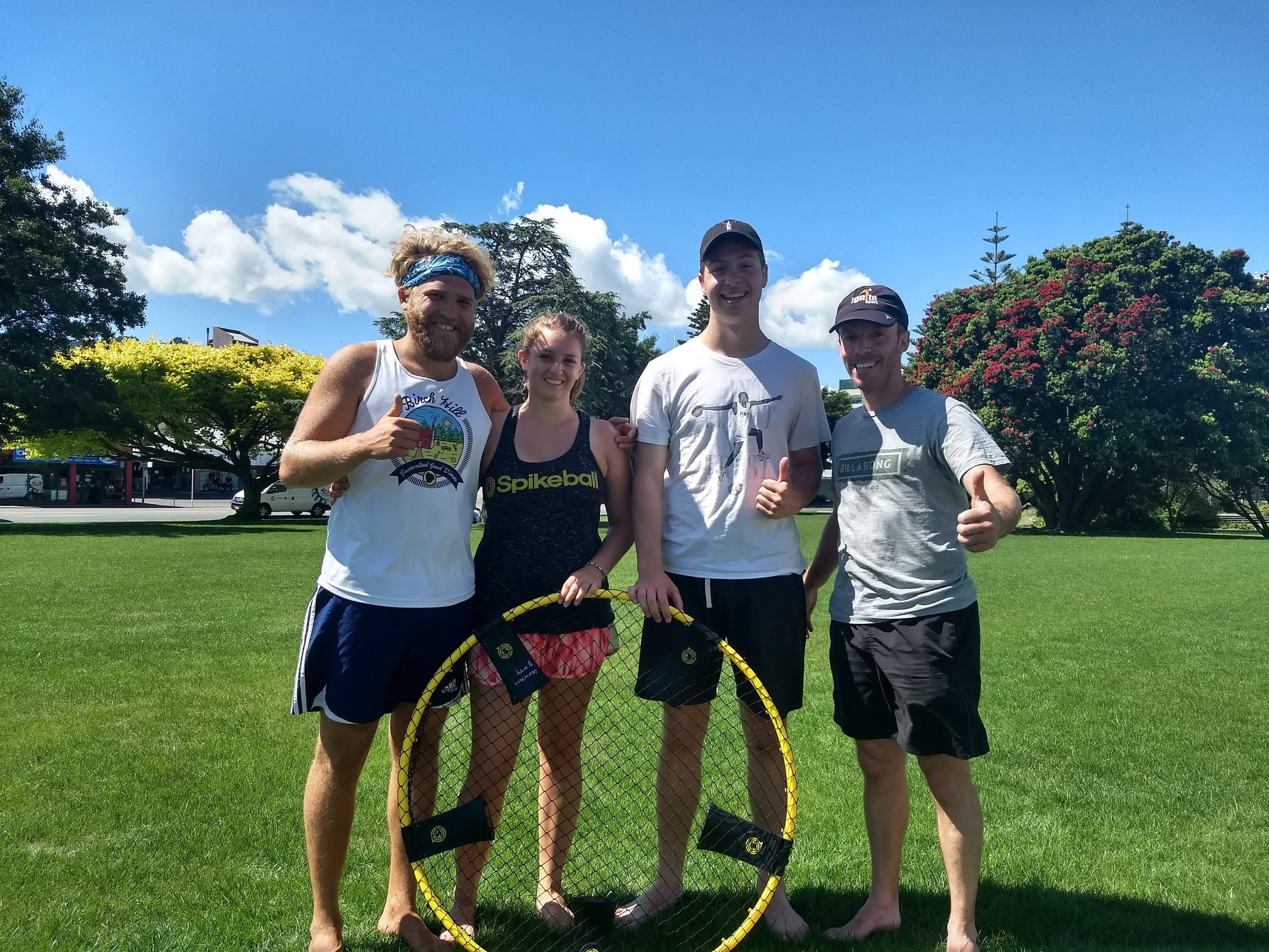 Friends we met to play spikeball with! It was super fun, and they were very cool!