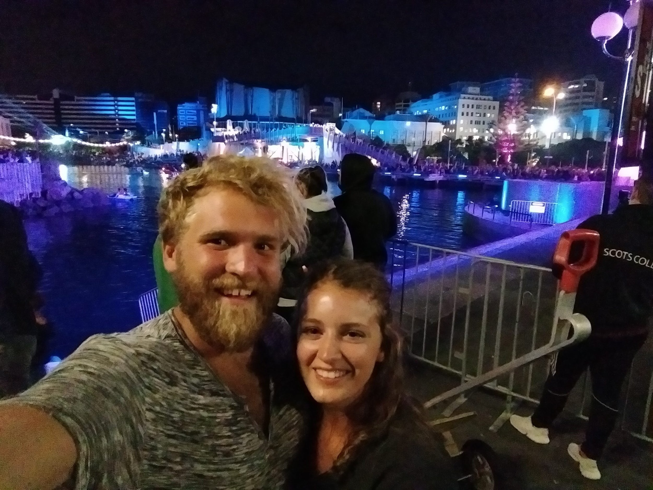 The concert on the boardwalk on New Years Eve!
