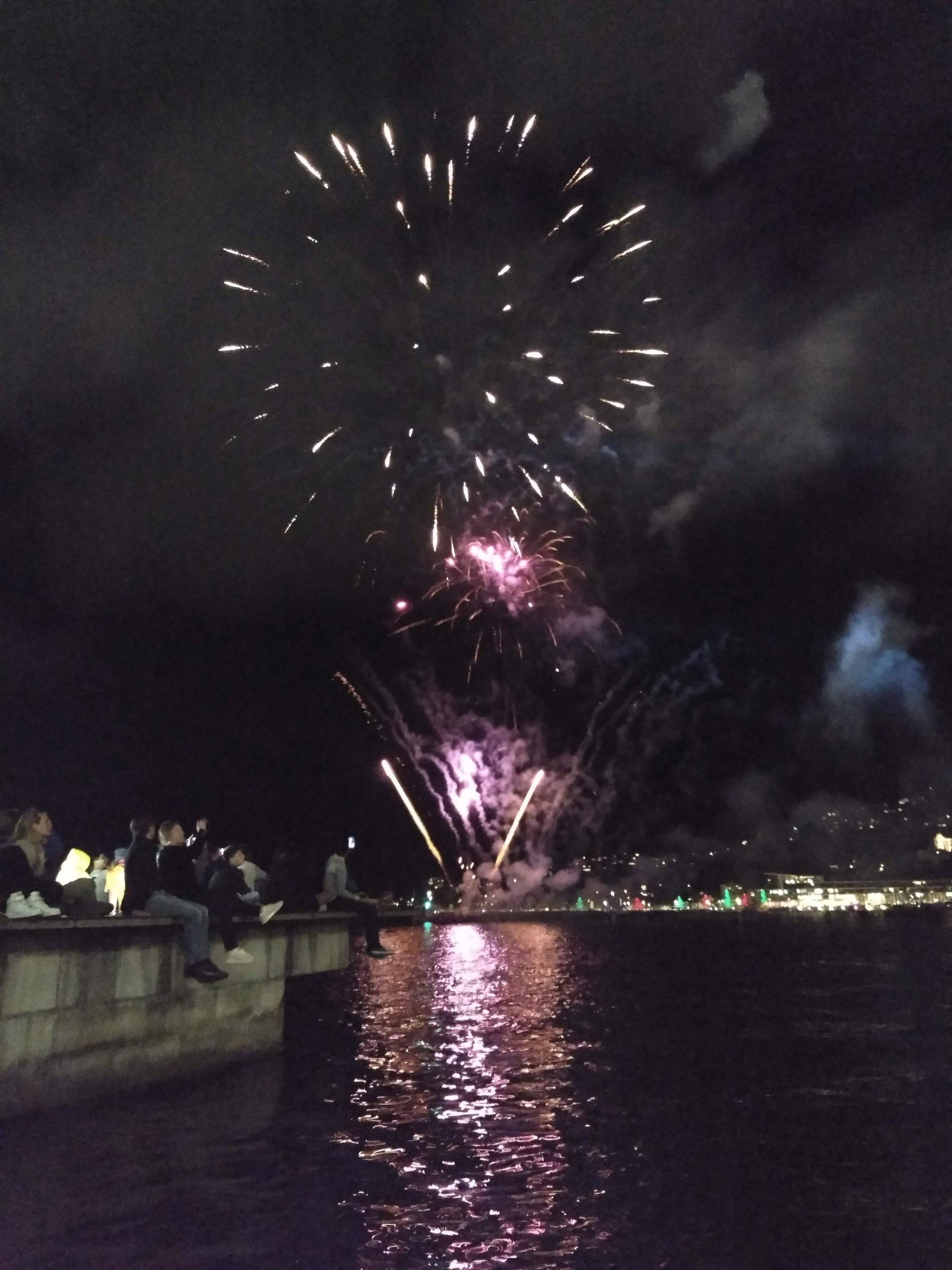fireworks over the bay!