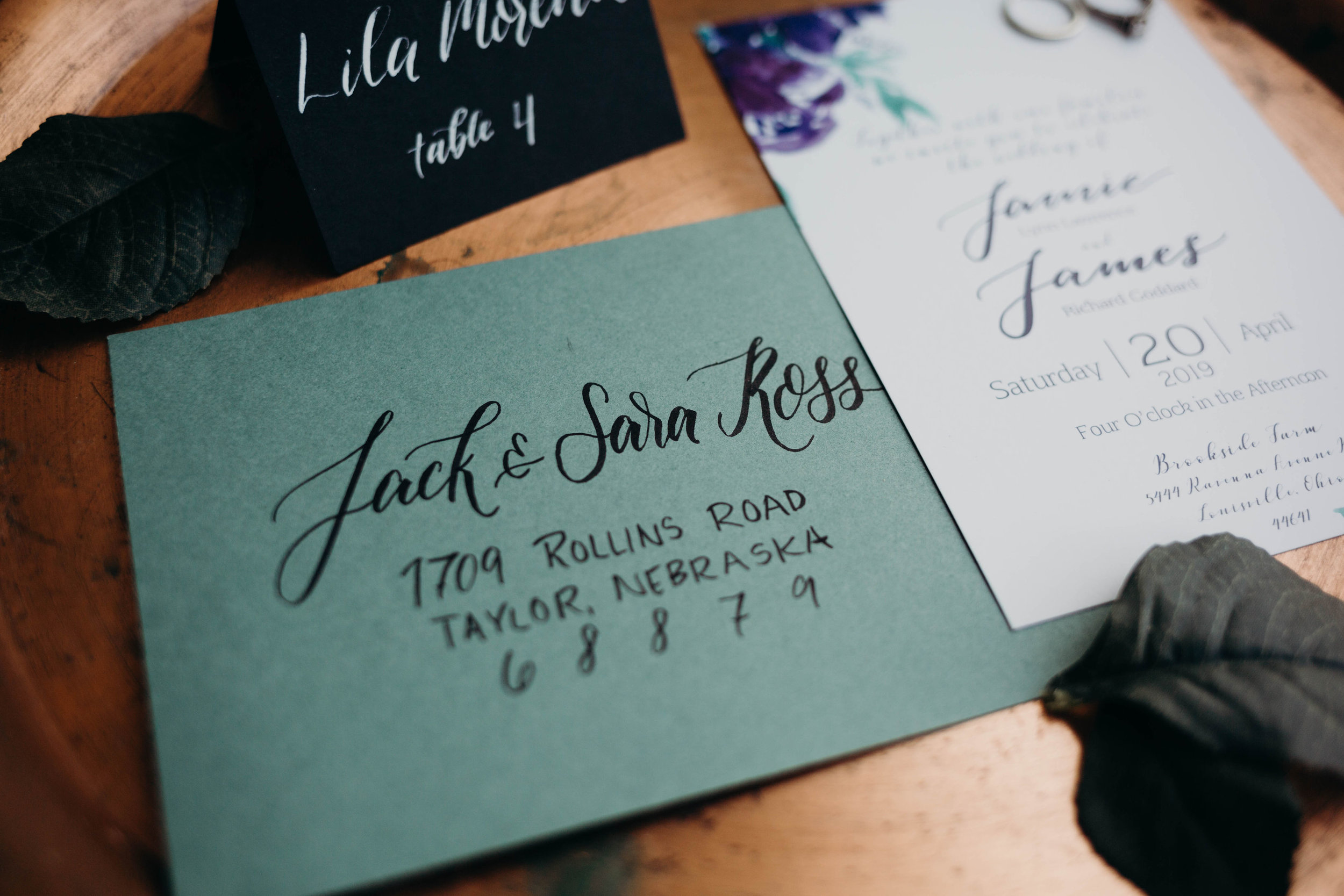 Tier Two: Brush Lettering or Hand Addressed - This second level of envelopes is perfect for fun and modern occasions. Your envelopes will be hand addressed using a combination of fonts and colors that perfectly match the vibe you're looking for. This selection includes your return address digitally printed on the back.Invitation Envelope: 2.50 ppRSVP Envelope: 1.50  pp
