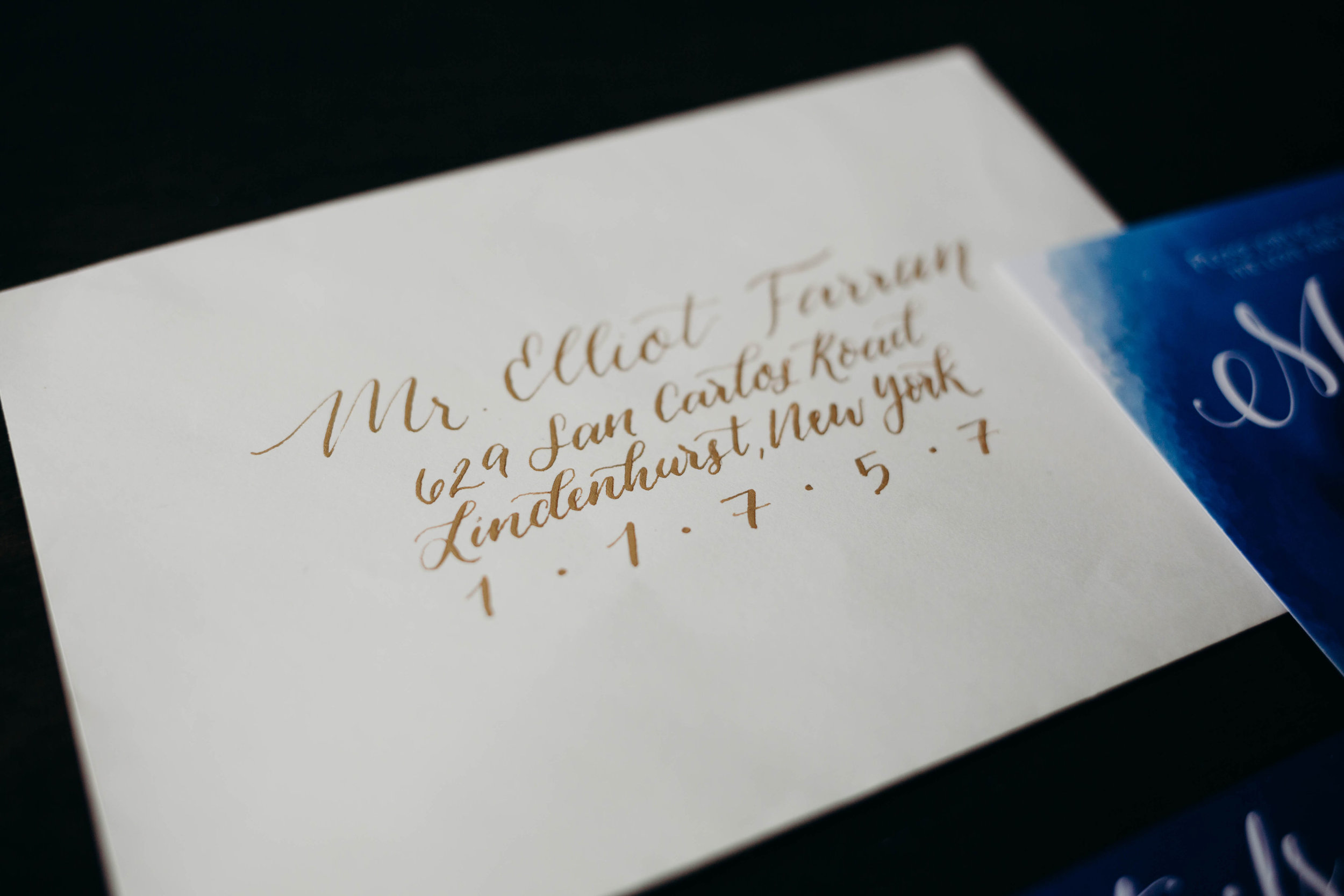 Tier One: Dip Pen Calligraphy - Choose your style, ink color and envelope color and let the magic happen! Stunning envelopes with amazing texture!Invitation Envelope: 3.00 ppRSVP Envelope: 2.00 pp